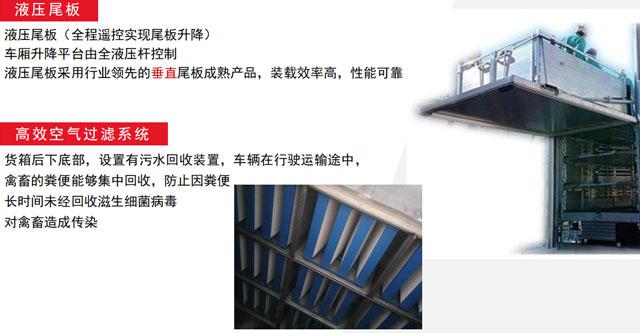 全铝合金高端畜禽运输车全液压升降尾板