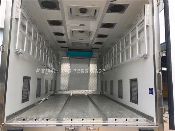 国六五十铃鸡苗运输车内部图片