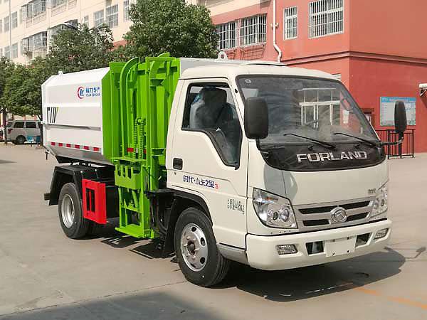福田小卡之星3挂桶式垃圾车