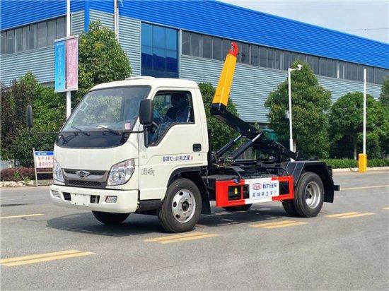 福田小卡之星4方勾臂式垃圾车(4方),车厢可卸式垃圾车|拉臂式垃圾车