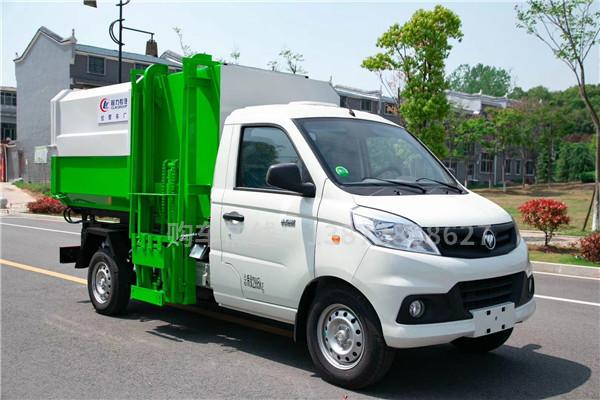 福田祥菱4方挂桶式垃圾车(汽油)