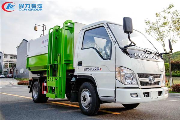 福田小卡之星2挂桶式垃圾车(5方)