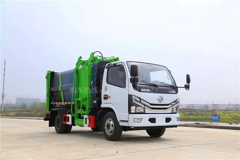 东风小多利卡侧装挂桶压缩垃圾车(7.8方)
