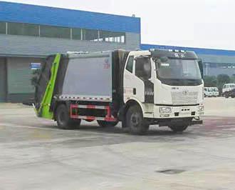 解放J6压缩式垃圾车(12方),压缩式垃圾车