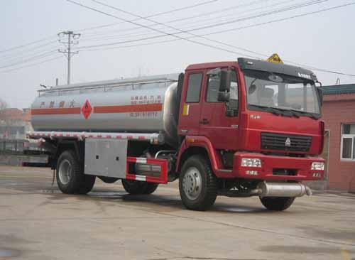 重汽平头单桥运油车,油罐车|加油车