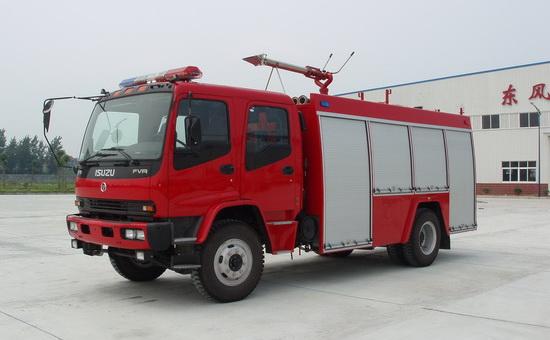 庆铃五十铃单桥泡沫消防车(5吨),消防车