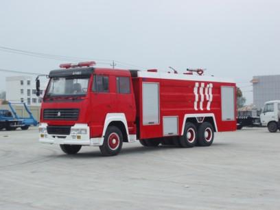 斯太尔双桥水罐泡沫消防车(15吨),消防车