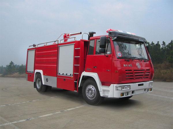 陕汽单桥水罐消防车(6吨),消防车